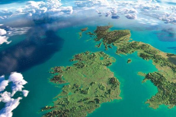 ireland uk map satellite